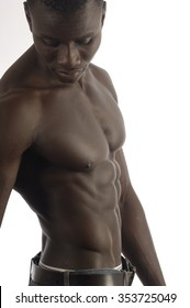torso of an African man naked