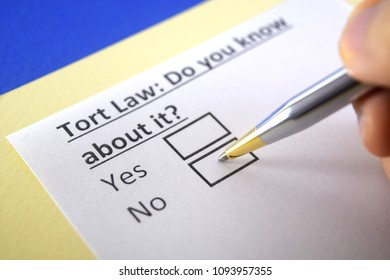 Tort Law: Do you know about it? yes or no