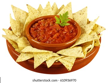 TORTILLA CHIPS AND SALSA CUT OUT