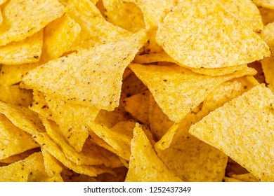 tortilla chips as a texture and background