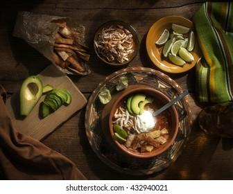 Tortilla soup - mexican spicy soup