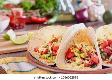 Tortilla or taco making with various filling