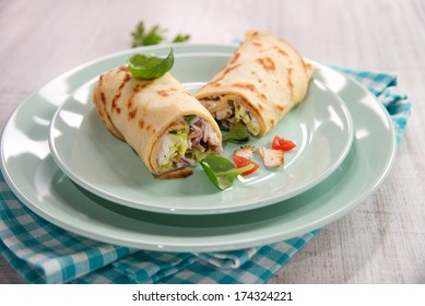 tortilla wrap a rollup of flatbread with assorted fillings