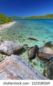 Tortola of the British Virgin Islands on a beautiful sunny day