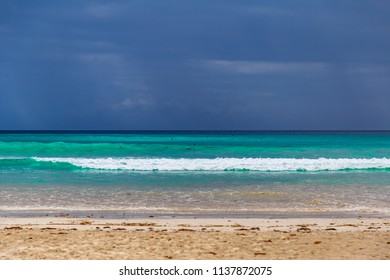 Tortuga Beach on Santa Cruz island in the Galapagos, Ecuador
