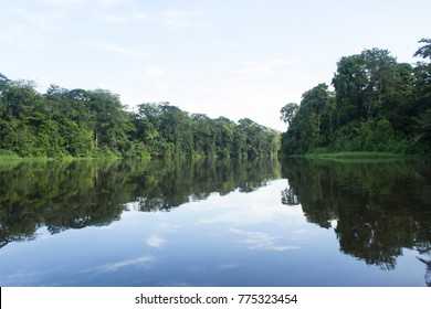 Tortuguero channels are the main route to arrive to Nat. Park. Tortuguero. Costa Rica Sep 2017