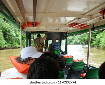 Tortuguero national park in the boat. Costa Rica