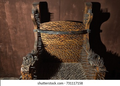 torture chair in the inquisition objects museum of Zacatecas Mexico