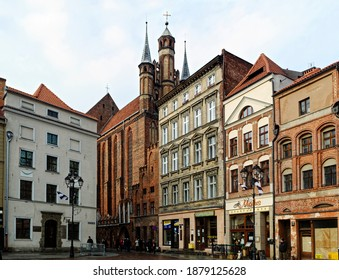 Torun, Poland - 2015.12.15: Old town of Torun
