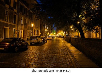 TORUN, POLAND - CIRCA SEPTEMBER 2016: Unidentified people walk through the streets in the centre of the Torun Old Town