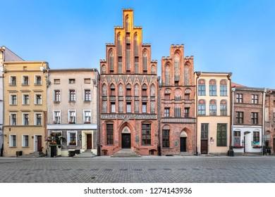 Torun, Poland - July 05 2018: House of Kopernik - museum commemorate Nicolaus Copernicus