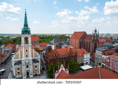 TORUN, POLAND, MAY 14, 2017: Torun old town, traditional architecture in famous polish city