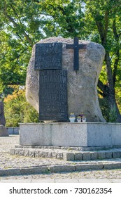 Torun, Poland - September 29, 2017: Monument to the Victims of Stalinism in Torun.
