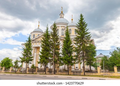 Torzhok city. Transfiguration Cathedral. Old church