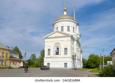 TORZHOK, RUSSIA - JULY 13, 2019: View of the Church of the Prophet Elijah on a July afternoon