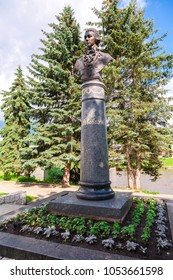 Torzhok, Russia - July 16, 2017: Monument to Russian architector Lvov in Torzhok, Russia