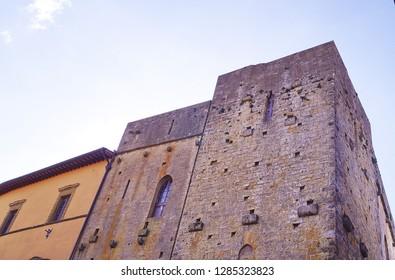 Toscano tower house, Volterra, Tuscany, Italy