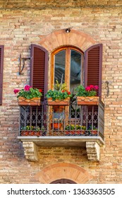 toscany window with balcony