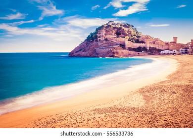 Tossa de Mar on Costa Brava, Catalunya, Spain