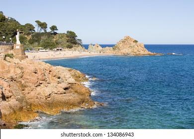 TOSSA DE MAR, SPAIN - MAY 1: View of Tossa de Mar, a typical summer destination in Mediterranean coast, on May 1, 2012, in Tossa de Mar, Spain.