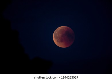 Total Lunar Eclipse, Blood Moon 07/27/2018  23:06  from Hammarskog Uppsala, Sweden.