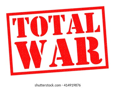 TOTAL WAR red Rubber Stamp over a white background.