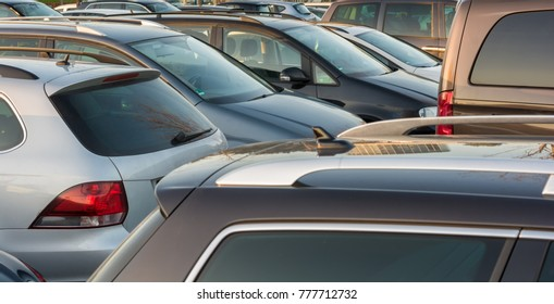 Totally overfull parking lot
