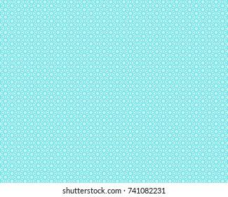 Totally unique, bright, blue geometric pattern.