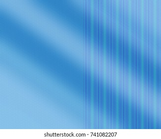 Totally unique, bright blue pattern with lines.