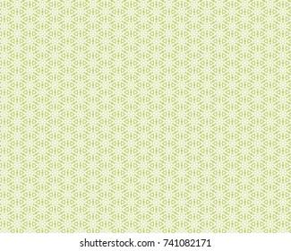 Totally unique, bright, green geometric pattern.