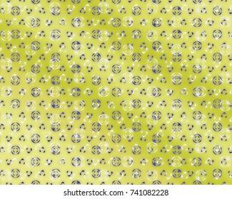 Totally unique, bright green geometric pattern.
