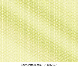 Totally unique, bright green pattern with lines.