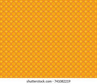 Totally unique, bright orange geometric pattern.