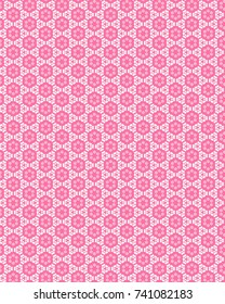 Totally unique, bright, pink geometric pattern.