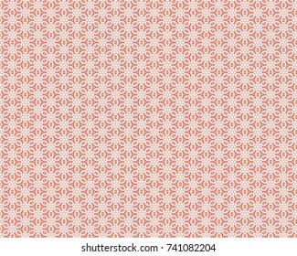 Totally unique, bright, salmon geometric pattern.