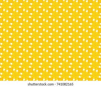 Totally unique, bright yellow geometric pattern.
