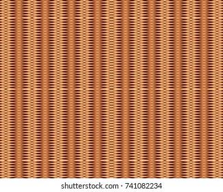Totally unique, wicker geometric pattern.