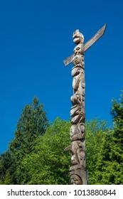 Totem Poles im Stanley Park, Vancouver