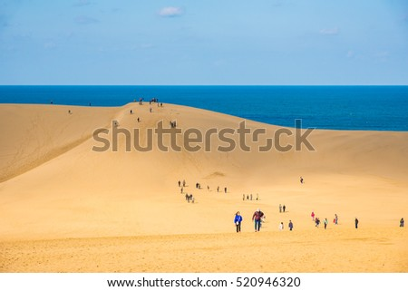 Tottori sand dune in autumn, Japan