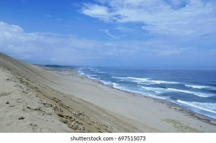 Tottori sand dune in Japan with sea views