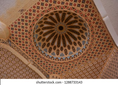 Touba, Senegal - November, 20, 2018: interior of Mosque, center of Mouridism and Cheikh Amadou Bamba burial place