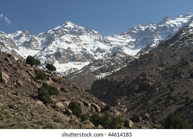 Toubkal - highest mountain peak of Atlass mountains Morocco, Africa