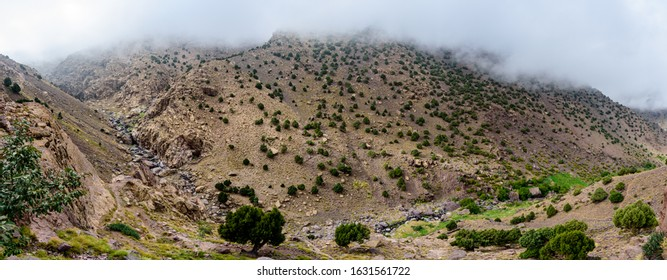 Toubkal National Park is a national park in the High Atlas mountain range.  Jbel Toubkal is the highest peak of the park at 4,167 metres.