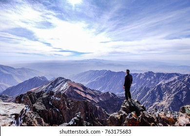 Toubkal summit view morocco