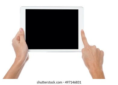 Touch pad device in use