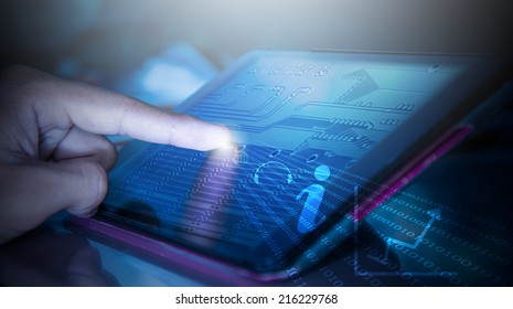 touch screen on tablet