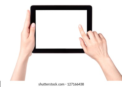 Touch screen tablet computer with hand isolated