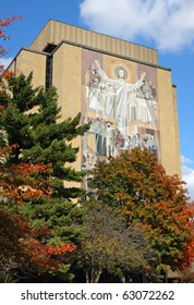 Touchdown Jesus at Notre Dame in the Fall
