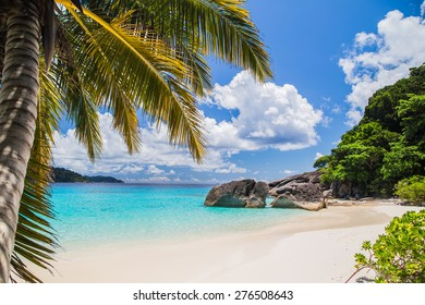 Touched tropical beach in similan island.