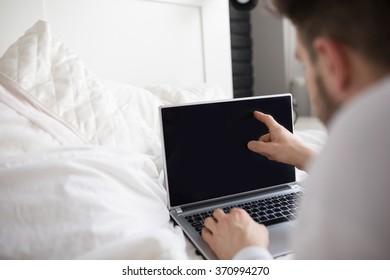 Touching the computer screen